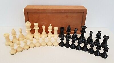 Old Plastic Chess Set King 7.5cm • 9.99£