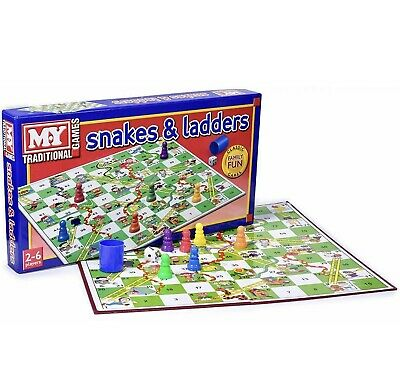 M.Y SNAKES & LADDERS Kids  Family Board Game  • 6.99£
