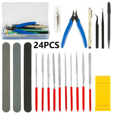 24 Piece Hobby Craft Tool Kit Airfix Scale Model Makers Crafting Repair Tools • 12.69£