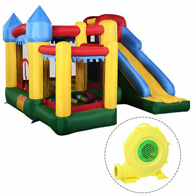 #  W/680W Blower Mighty Inflatable Bounce House Castle Jumper Moonwalk Bouncer # • 60£