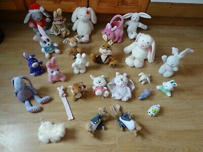 Bundle 25 X Small Plush Soft RABBITS 9 Ins High Max - Inc. BRIDE Bunny • 5.99£