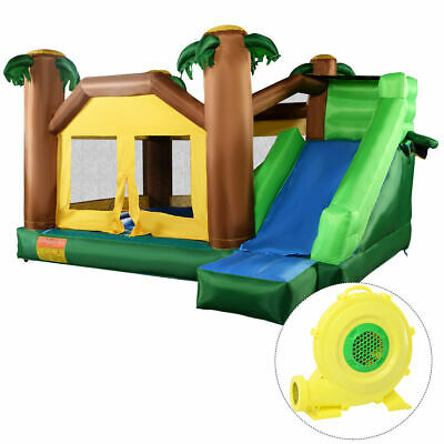 Forest Inflatable Jungle Bounce House Jumper Bouncy Jump Castle W/ 680W Blower M • 65£