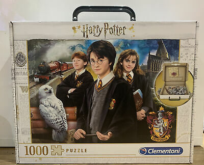 Clementoni Harry Potter 1000 Piece Jigsaw Puzzle In Carry Case - 61882 • 12.49£