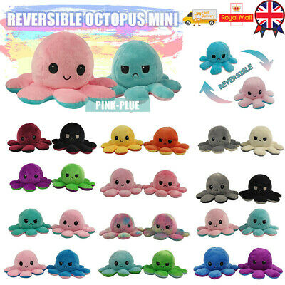 Double-Sided Flip Reversible Octopus Plush Toy Marine Life Animal Doll Gift UK- • 4.98£