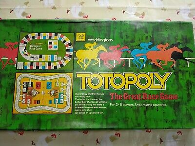 Vintage Waddingtons Totopoly Board Game, Horse Racing Game 1978.  • 9.30£
