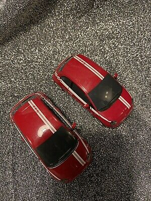 2 X Hornby Scalextric Fiat 500 Cars Used • 22£
