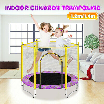 3.9/4.5FT Mini Trampoline Set Enclosure Safety Net Outdoor Indoor Kids Toy Play • 44.99£