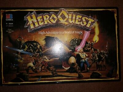 Heroquest Board Game, MB Games Workshop. Incomplete. Heroes Replaced • 50£