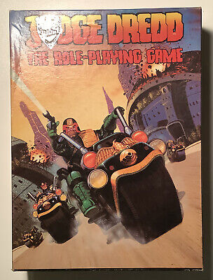 Judge Dredd The Role Playing Game Boxed Games Workshop 1985 • 22.50£