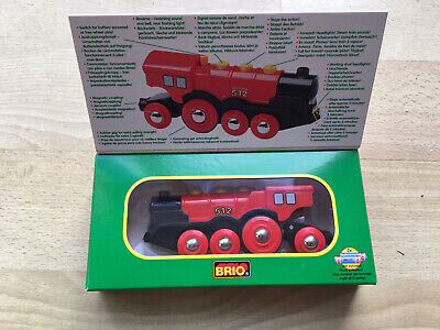 Brio Mighty Red Action Locamotive- Battery Powered Train- 33223 • 8£