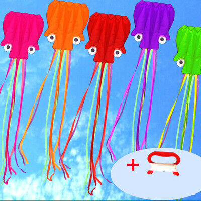 Large Easy Flyer Kite For Kids-Software Octopus Long-Perfect For Beacs1 • 4.92£