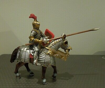 Schleich Retired Knight, With Lance, On Horse (cat No 70017) • 10£