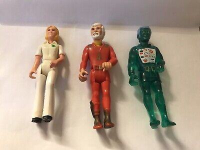 VINTAGE FISHER PRICE ADVENTURE FIGURES / PEOPLE. From Alpha Probe Space Ship • 5£