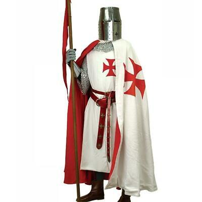 Knights Templar Cape, Ideal For Costume, Re-enactment Or LARP • 130£