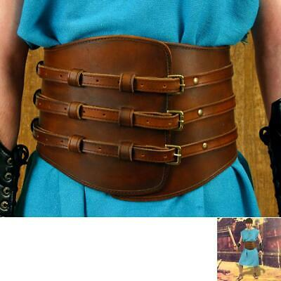 Roman Gladiator Brown Leather Kidney Belt. Ideal For Costume Or LARP • 85£