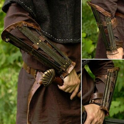 Medieval / Viking Vambraces, Arm Protection / Armour. Ideal For Costume Or LARP • 55£