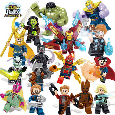 16pcs Marvel Super Heroes Fit Lego Avengers Infinity War Mini Figures Man Hulk • 14.28£