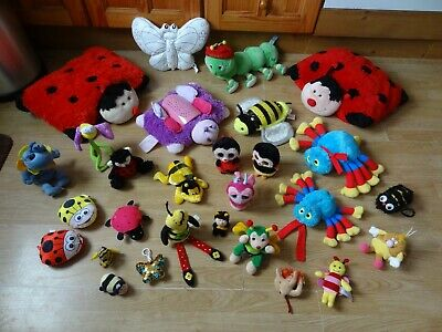 Bundle 28 X Plush BUGS & INSECTS Soft Toys 15 Ins Long Max - LOTS A LEGS ROCKY • 5.99£