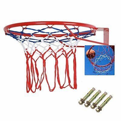 Outdoor Indoor 18  45cm Basketball Ring Hoop Net Full Size Wall Mounted Hanging • 10.39£