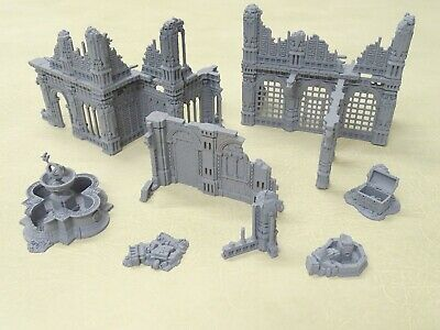 Warhammer Age Of Sigmar AZYRITE SHATTERED PLAZA + Extras £50 At GW 75431 • 34.99£