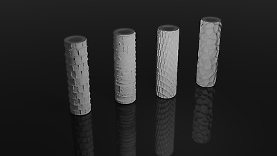 Rolling Pins- Texture Rollers For Warhammer DND Terrain And Base 40K  • 7£