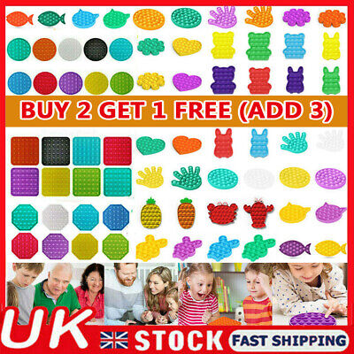 Push Pop-it Bubble Sensory Fidget Toy Autism Special Needs Silent Classroom UK • 4.69£