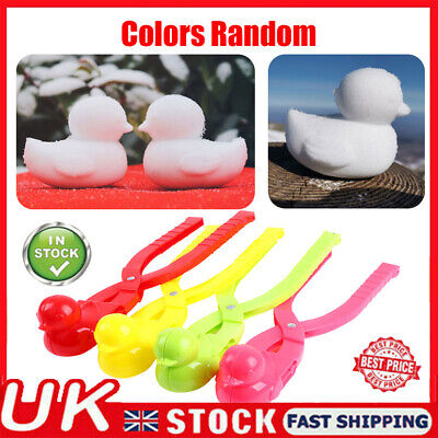 Outdoor Snowball Maker Clip Tool Duck Shaped Kids Winter Snow Sand Making Mold • 3.59£