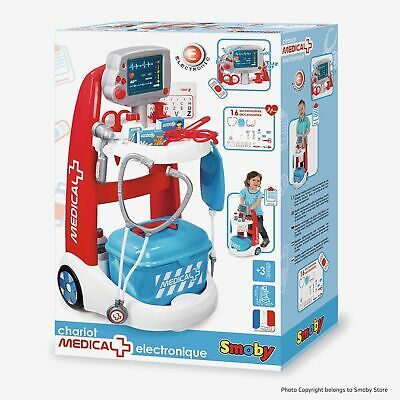 Smoby 340202 Kids Medical Trolley, Doctor Playset, Portable Cart • 19.97£