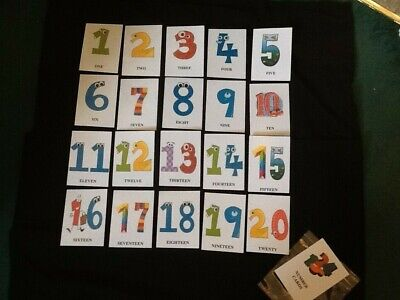 Educational Cards - Numbers 1-20 - ELFS - Flashcards - (rounded Corners) • 4.99£