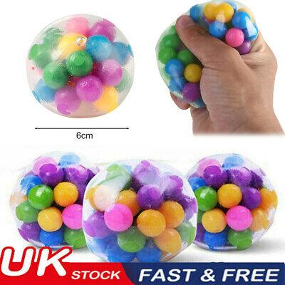 1PC Squishy Sensory Stress Reliever Ball Toy Autism Squeeze Anxiety Fidget 2021 • 1.99£