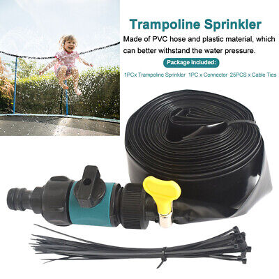 Backyard Durable Trampoline Sprinkler Outdoor Cooling Water Toys Summer Games • 8.94£