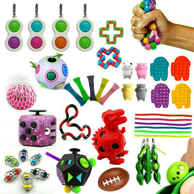 Fidget Toys Set Kit Sensory Tools Bundle Stress Relief Hand Kids Adults ADHD Toy • 10.15£