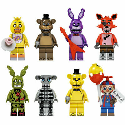 8Pcs Five Nights At Freddy's Minifigure Fit Lego FNAF Toy Kids Collection Gifts • 10.68£