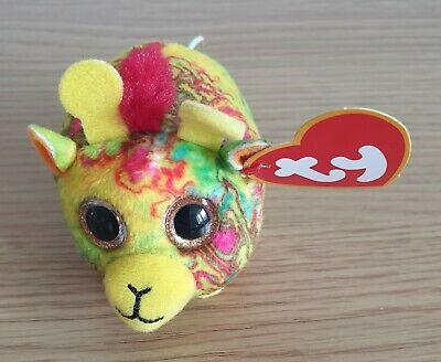 Ty Teenie Beanie Babies Mabs The Giraffe With Red Mane. Perfect Condition. McDs. • 6£