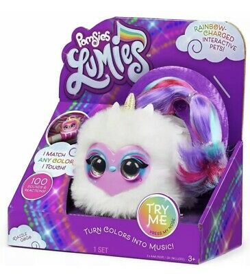 Pomsies Lumies Dazzle GoGo Interactive Pet 100 Sounds & Reactions New • 9.99£