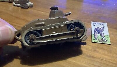 Antique World War 1 Lead Toy Tank, Unusual Small Early Tank • 10£