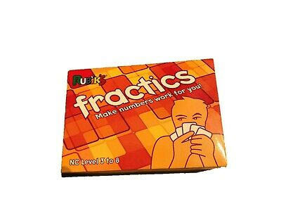 RUBIKS FRACTICS Card Game Maths Fractions Ages 7 Years + • 10£