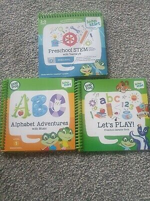 Leapfrog, Leapstart Books Bundle X3 Alphabet Adventures, Preschool Stem • 12.50£