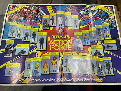 Vintage Action Force Gi Joe 1984 Cpg Products Poster Battle Force Freebie • 12.99£