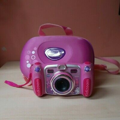 VTech Kidizoom Duo Camera 5.0 MP - Pink With Carry Case USED • 5£