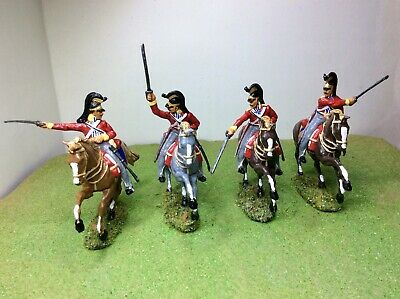 1/32 Napoleonic British  Inniskilling Dragoons X4. New. Well Painted And Based  • 21.99£