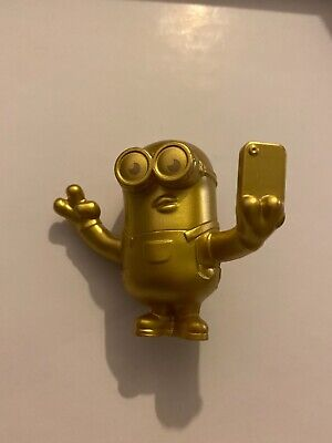 2020 Uk Mcdonalds Minion Toys. Rise Of Gru- GOLD RARE - Selfie • 6£