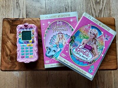 Vtech Disney Princess Slide & Talk Phone With 2 FREE Barbie Dvd's • 7£