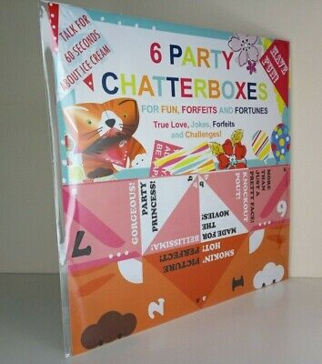 6 Party Chatterboxes / Fortune Teller - Retro Paper Fun Game Origami • 3.99£