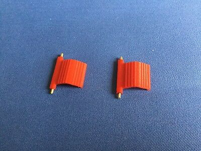 Dinky # 105 MSV  1x Pair Of Red Plastic Repro Side Steps.(new Design) • 6£