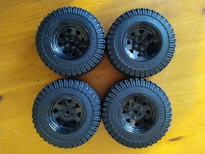 RC4WD Scale Steel Beadlock 1.9 RC Crawler Wheels With RC4WD Dirt Grabber Tyres • 20£