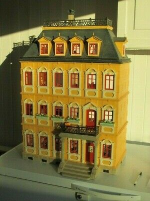 Playmobil Victorian Mansion Doll House + All Rooms Furniture + Figures + More • 69.99£