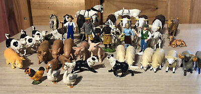 Britains Farm Animals And Workers Bundle. 46 Pieces. 1/32 Scale • 12.50£