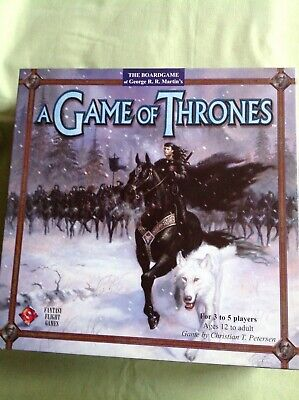 A Game Of Thrones The Boardgame + A Clash Of Kings + A Storm Of Swords Expansion • 10£