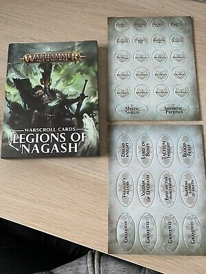 Legions Of Nagash - Warscroll Cards & Tokens -Warhammer Age Of Sigmar-light Use • 45.99£